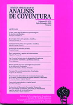 Revista Venezolana de Análisis de Coyuntura