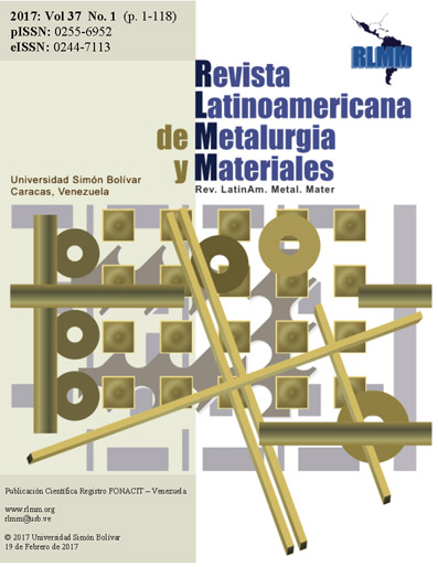 Revista Latinoamericana de Metalurgia y Materiales